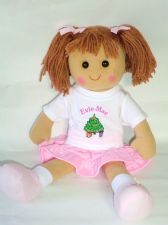 Personalised Christmas Doll Raynor