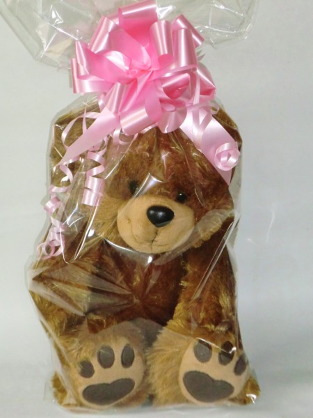 Personalised Teddy Bear Gift Wrapped